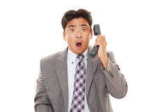 Surprised Asian businessman Royalty Free Stock Images