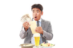 Surprised Asian businessman stock photos
