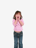 Surprised asian girl Royalty Free Stock Photos