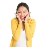 Surprised Asian girl Stock Photo