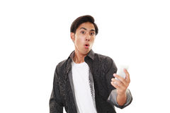 Surprised Asian sman Royalty Free Stock Photography