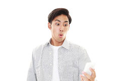 Surprised Asian sman Royalty Free Stock Images