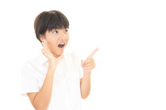 Surprised Asian teen girl Stock Image
