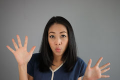 Surprised Asian woman. Stock Images