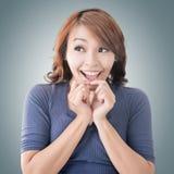 Surprised Asian woman Royalty Free Stock Photos