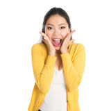 Surprised Asian woman Royalty Free Stock Photography