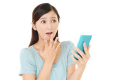 Surprised Asian woman Stock Image