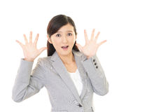 Surprised Asian woman Royalty Free Stock Images