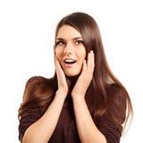 Surprised attractive teen girl Stock Image