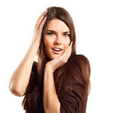 Surprised attractive teen girl Stock Photography