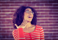 Surprised attractive young woman Stock Photography