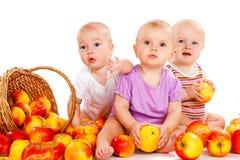 Surprised babies. Three adoravle babies looking suprised Stock Photo