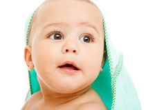 Surprised baby Royalty Free Stock Image