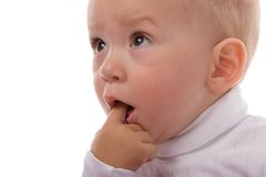Surprised baby Stock Photos