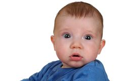 Surprised baby Royalty Free Stock Photos