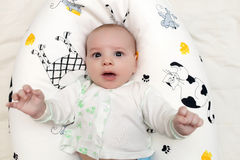 Surprised baby boy Stock Image