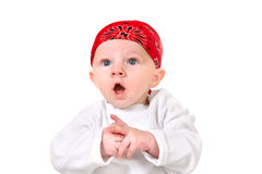 Surprised Baby Boy Stock Image