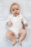 Surprised baby  on diaper Royalty Free Stock Photography