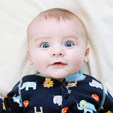 Surprised baby face Royalty Free Stock Photos