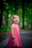 Surprised baby girl Royalty Free Stock Images