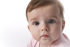 Surprised Baby Girl portrait Royalty Free Stock Photos