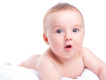 Surprised baby Royalty Free Stock Images