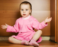 Surprised baby looks Royalty Free Stock Image