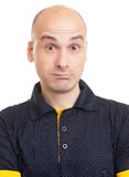 Surprised bald man Royalty Free Stock Photos