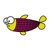 Surprised balloon fish cartoon icon. Illustration design Stock Images