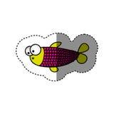 Surprised balloon fish cartoon icon. Illustration design Stock Photo