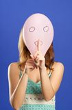 Surprised balloon making shhhhh Royalty Free Stock Image