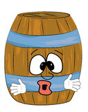 Surprised barrel cartoon Royalty Free Stock Photos