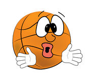 Surprised Basketball ball cartoon Stock Photography