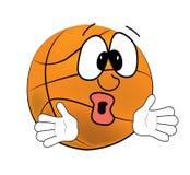 Surprised Basketball ball cartoon Stock Photography