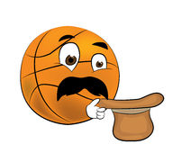 Surprised Basketball ball cartoon Stock Image