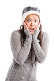Surprised beautiful asian woman Royalty Free Stock Photography