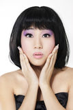 Surprised beautiful asian woman Royalty Free Stock Image