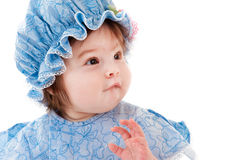 Surprised beautiful baby Stock Images