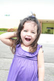 Surprised beautiful little girl Stock Photography