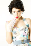 Surprised beautiful woman Royalty Free Stock Image