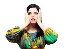 Surprised beautiful woman Stock Photos