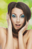 Surprised beautiful young woman Royalty Free Stock Images