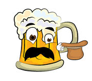 Surprised beer cartoon Stock Photo