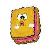 Surprised biscuit cartoon Royalty Free Stock Image