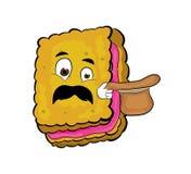 Surprised biscuit cartoon Stock Images
