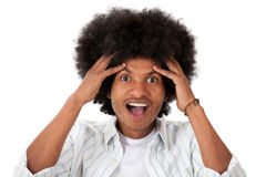 Surprised black man Stock Photography
