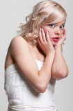 Surprised blonde Stock Photography