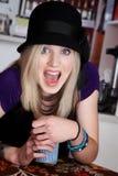 Surprised blonde girl Royalty Free Stock Image