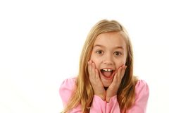 Surprised blonde girl Stock Photography