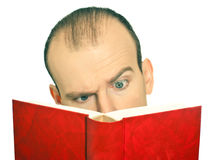 Surprised by the book Stock Photography
